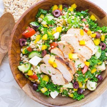Chicken Kale and Farro Salad Recipe   SideChef