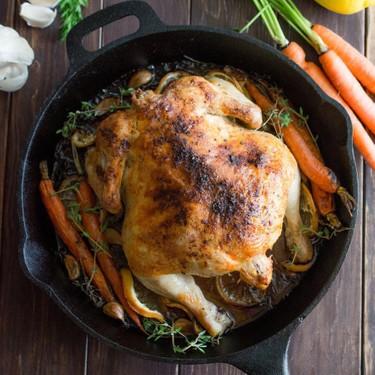 Lemon Roasted Chicken Recipe   SideChef
