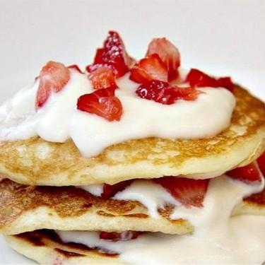 Three Layer Strawberry Pancakes Recipe | SideChef