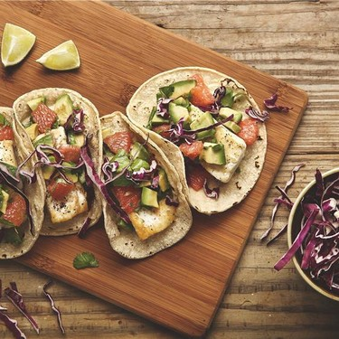 Halibut Tacos with Grapefruit Salsa Recipe | SideChef