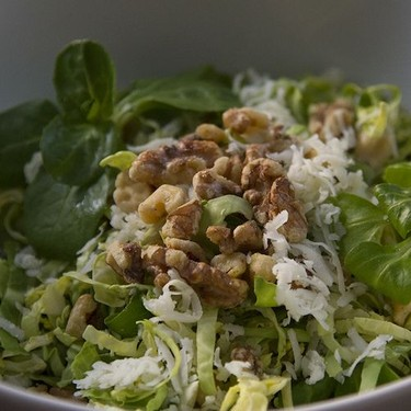Brussels Sprout Salad with Mâche and Tarragon Vinaigrette Recipe | SideChef