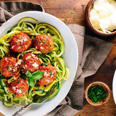 Slow Cooker Meatballs with Spiralized Noodles Recipe | SideChef