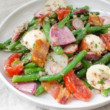 Tangy Green Bean Ciliegine Salad Recipe | SideChef