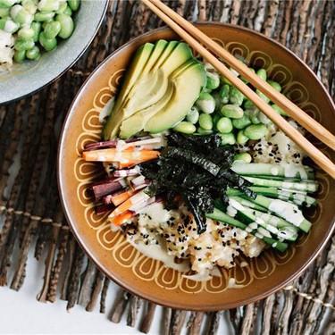 Vegetarian Sushi Bowls with Wasabi Mayo Recipe   SideChef