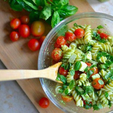 Caprese Pesto Pasta Salad Recipe | SideChef