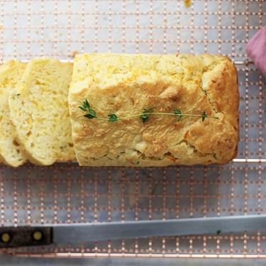Cheddar Thyme Quick Bread Recipe | SideChef