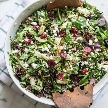 Chopped Apple Quinoa and Pecan Salad Recipe | SideChef