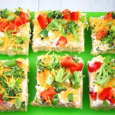 Cold Veggie Pizza Appetizer Recipe   SideChef