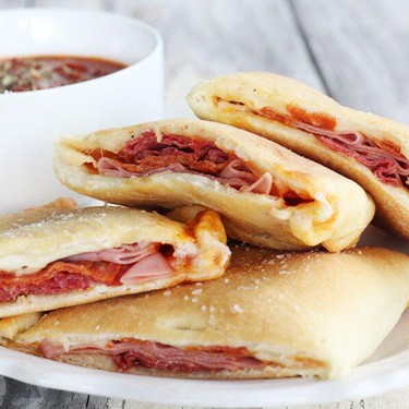 Meat and Cheese Pizza Calzones Recipe   SideChef