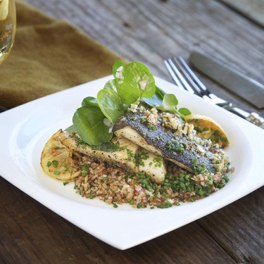 Idaho Trout with Salsa Verde Tabouleh Recipe   SideChef