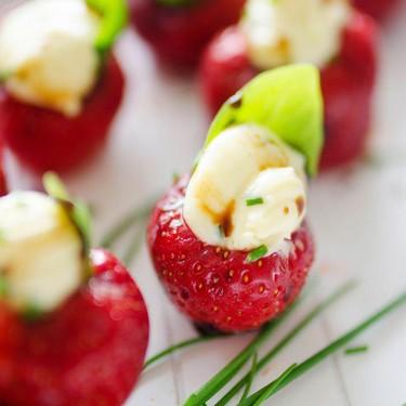 Herby Whipped Brie Stuffed Strawberries Recipe | SideChef