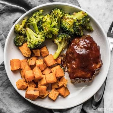 Sheet Pan BBQ Meatloaf Dinner Recipe   SideChef