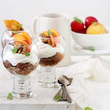 Overnight Thandai Oats with Peaches and Plums Recipe   SideChef