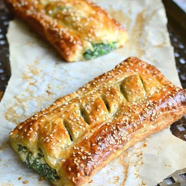 Spinach Puff Pastry Rolls with Feta & Ricotta Recipe   SideChef