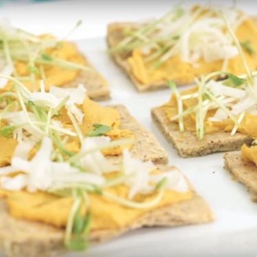 Almond Rosemary Flatbread and Sweet Potato Hummus Recipe | SideChef