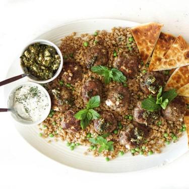 Mediterranean Lamb Meatballs & Farro Recipe | SideChef