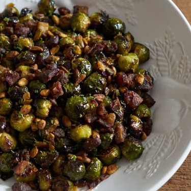 Roasted Brussels Sprouts with Pistachios, Dates, and Lime Recipe | SideChef