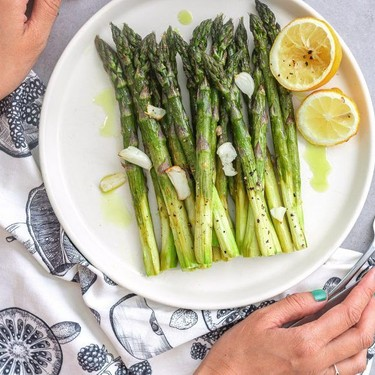 Roasted Asparagus with Garlic and Lemon Recipe   SideChef