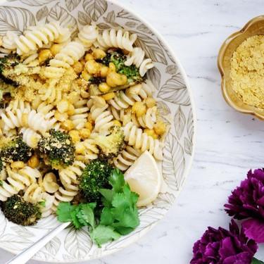 Lemon Roasted Broccoli and Chickpea Pasta Recipe | SideChef