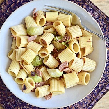 Brussels Sprout and Turkey Bacon Pasta Recipe   SideChef
