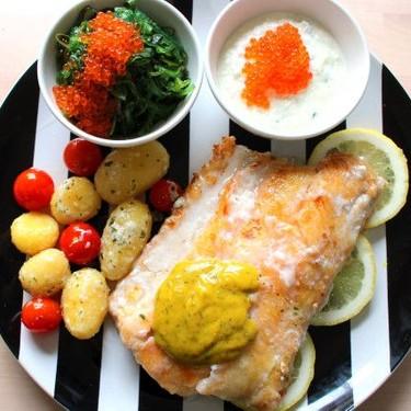 Wolf Fish with Dill Mustard Sauce Recipe | SideChef