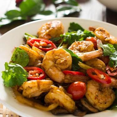 Thai Tom Yum Shrimp Stir Fry Recipe | SideChef
