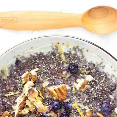 Blueberry Pie Quinoa Porridge Recipe | SideChef