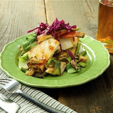 Szechuan Tofu with Sticky Rice and Ponzu Veggies Recipe   SideChef