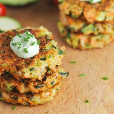Crispy Vegetable Fritters with Avocado Yogurt Sauce Recipe   SideChef