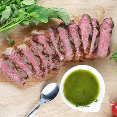 New York Strip Steak with Chimichurri Sauce Recipe   SideChef