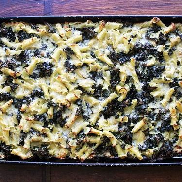 Sheet Pan Pasta Gratin with Kale Recipe   SideChef