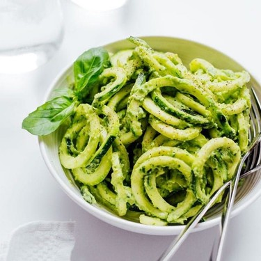 Zucchini Pasta with Creamy Avocado Pesto Recipe | SideChef