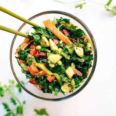 Chopped Kale Salad with Edamame, Carrot and Avocado Recipe   SideChef