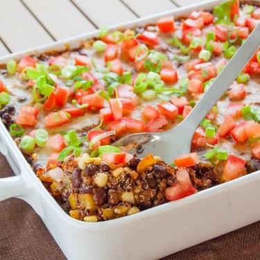 Cheesy Quinoa and Black Bean Casserole Recipe | SideChef