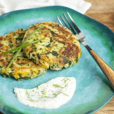 Spinach and Cheddar Potato Cakes Recipe | SideChef