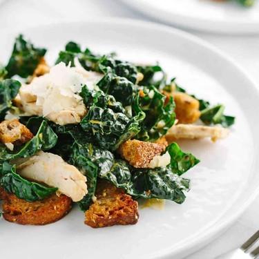 Chicken Kale Caesar salad with Croutons Recipe   SideChef