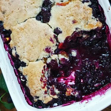 Blueberry and Peach Cobbler Recipe | SideChef