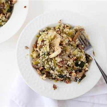 Toasted Barley Pilaf with Mixed Mushrooms and Leeks Recipe   SideChef