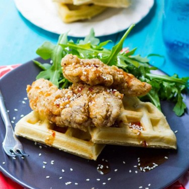 Middle Eastern Chicken and Waffles Recipe | SideChef