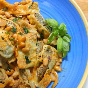 Cannellini Beans Ravioli Gratinated in Chilli Tomato Cream Recipe   SideChef