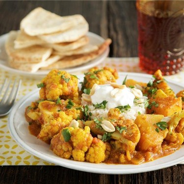 Cauliflower and Butternut Squash Curry with Rice Recipe | SideChef