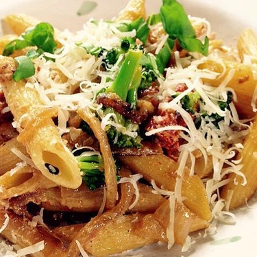 Goat Cheese & Sun-dried Tomato Penne Recipe | SideChef