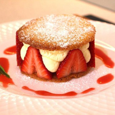 Strawberries with Sable Biscuits and Orange and Lemon Syllabub Recipe | SideChef