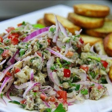 Red Onion and Sardine Salad Recipe | SideChef