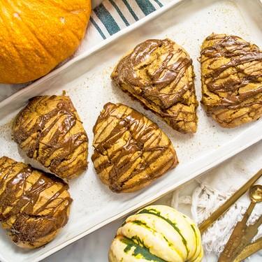 Paleo Pumpkin Scones with Spiced Drizzle Recipe | SideChef