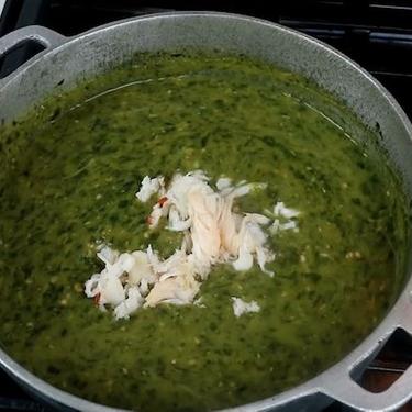 Caribbean Lobster Callaloo (Soup) Recipe | SideChef