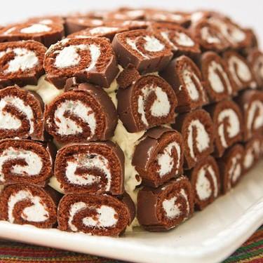 Frozen Swiss Cake Roll Ice Cream Sandwich Cake Recipe   SideChef