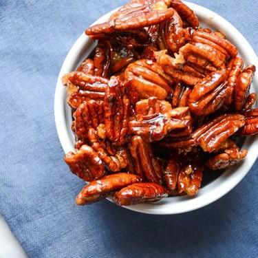 Glazed Spiced Pecans Recipe   SideChef