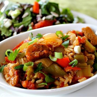 Spicy Vegan Sausage Jambalaya Recipe | SideChef