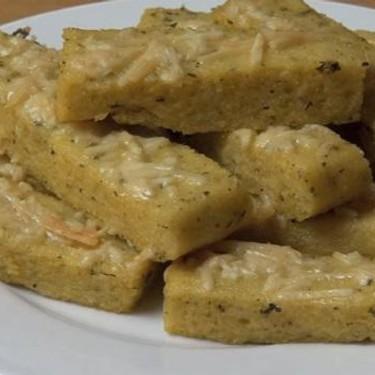 Oven Baked Cheesy Polenta Chips Recipe | SideChef